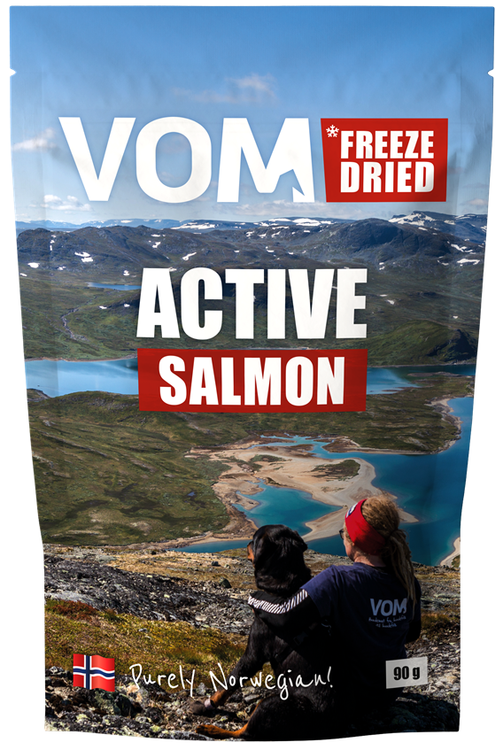 Freeze Dried ACTIVE Salmon 90 gram pose