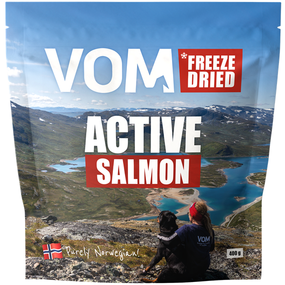 Freeze Dried ACTIVE Salmon 400 gram pose